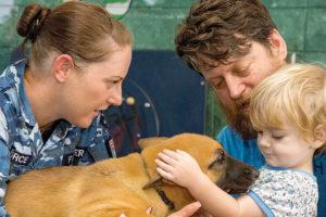 RAAF Puppies Thrill Sunshine Ward Kiddies
