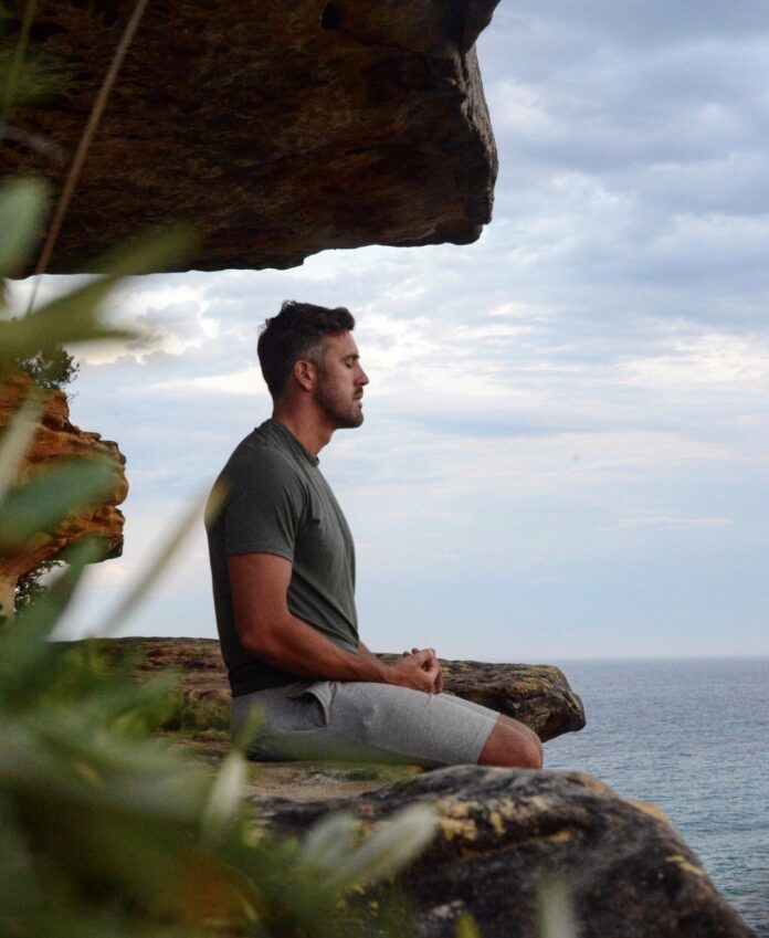 Luke McLeod meditating